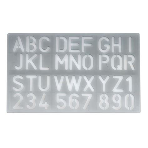 plastic letter templates celco 30 mm lettering stencil ebay