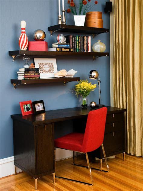 decorate office shelves photos hgtv