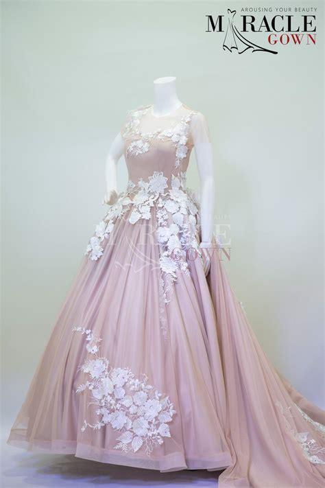 sewa gaun surabaya snow white petaled strokes in wisteria gown miracle gown