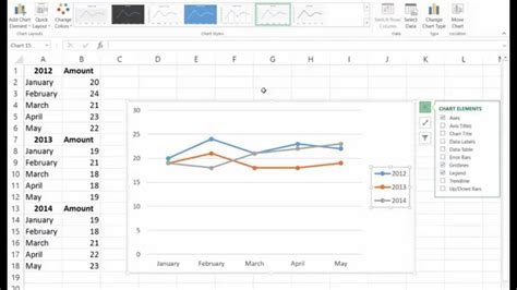 tutorial excel line chart how to create line chart in excel 2013 excel 2013 line