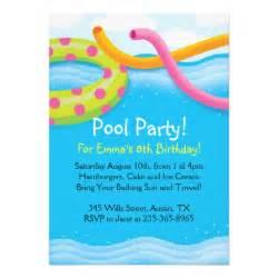 pool themed invitations 5 quot x 7 quot invitation card zazzle