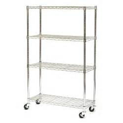 wire steel shelving vancouver classics she15363z 4 shelf chrome wire shelving