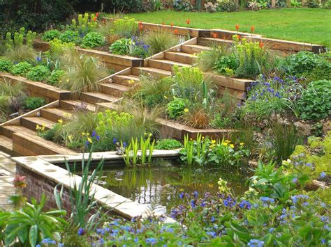 1000 ideas about terraced garden on sloping