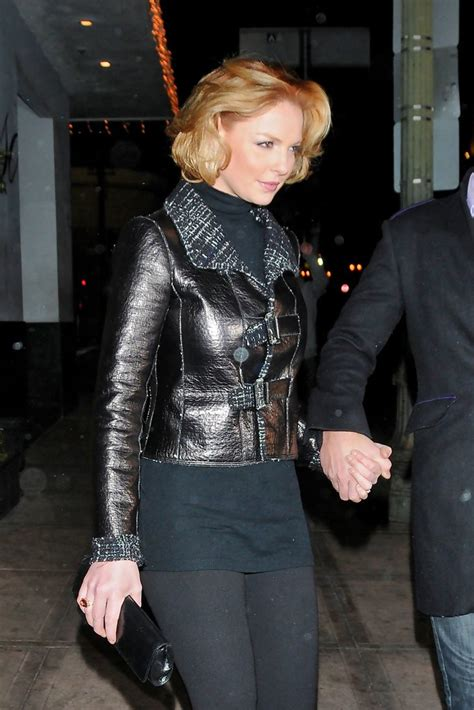 Style Katherine Heigl Fabsugar Want Need 3 by Katherine Heigl Leather Jacket Katherine Heigl Outerwear