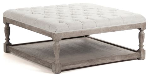 gray ottoman coffee table square tufted linen natural elm coffee table ottoman