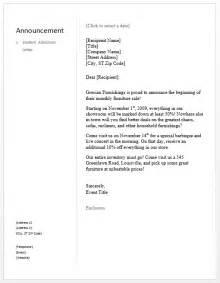 Sle Organizational Change Announcement by Sle Announcement Letter Free Sle Letters