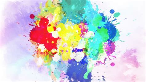 colorful ink drop  water stock footage video
