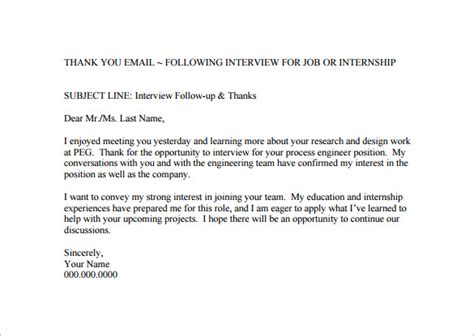 thank you email after interview 17 free word excel