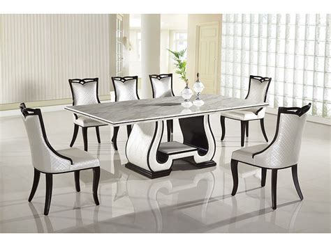 black and white marble top dining set shop for