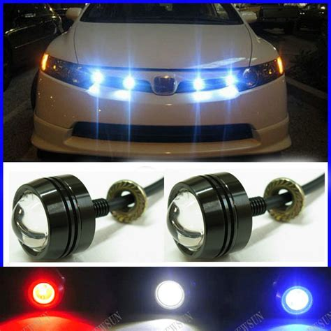 Super Thin Car Led Fog Reverse Light Newest Led Eagle Eye Led Lights Car