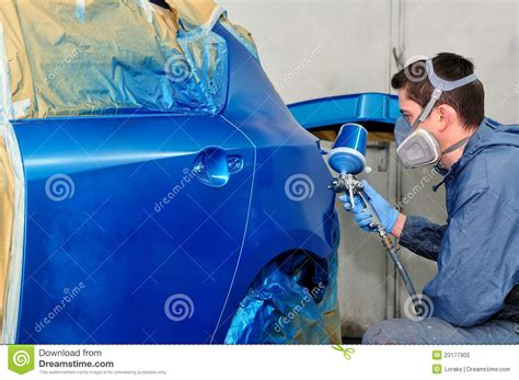 Auto Painter by Car Painter At Work Stock Photo Image Of Repaint Paper 23177900