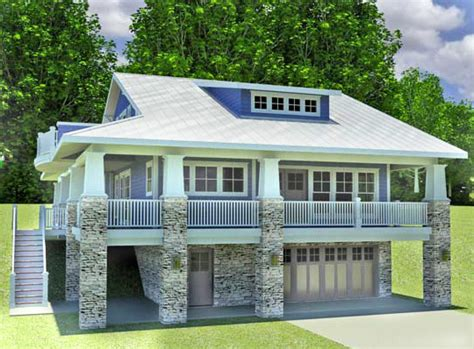 garage under house plans architectural designs