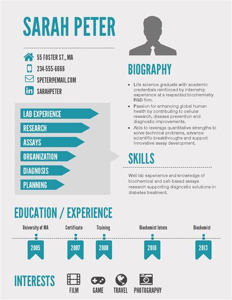 free infographic resume templates globish me