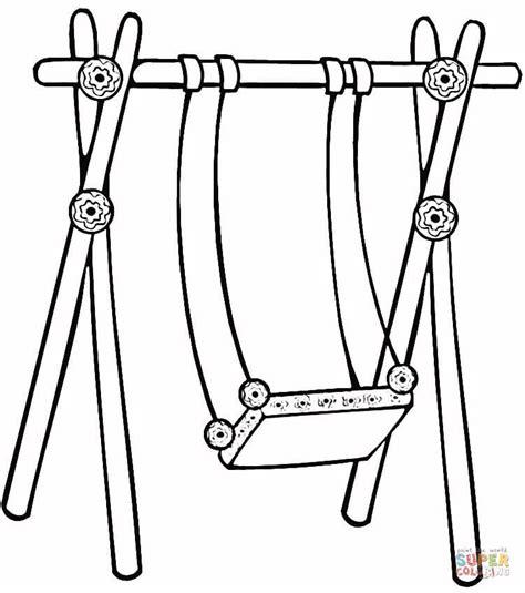 swing color disegno di l altalena da colorare disegni da colorare e