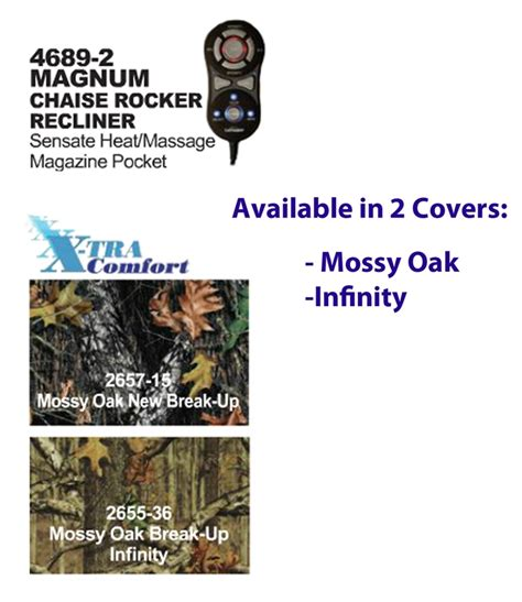 catnapper magnum camo recliner magnum heat massage mossy oak camouflage chaise rocker