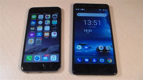 nokia 8 vs iphone 6s hd