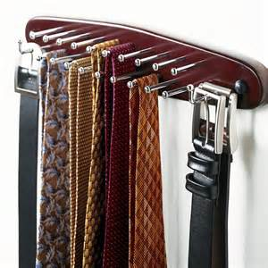 walnut tie belt rack the container store