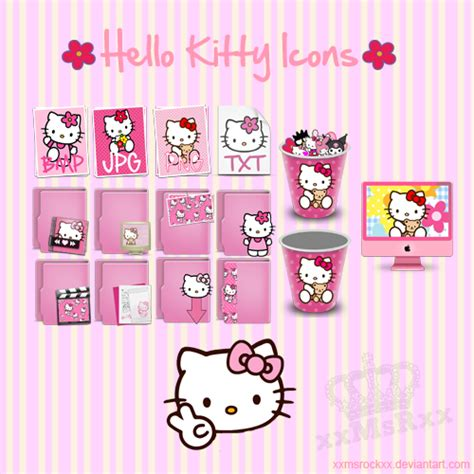 cute themes free download pc hello kitty icons by xxmsrockxx on deviantart