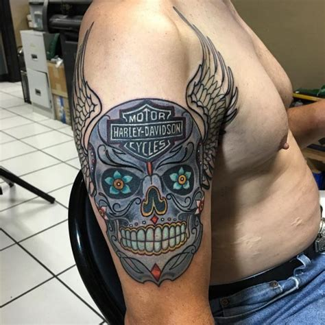 95 adventurous harley davidson tattoos