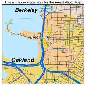 aerial photography map of emeryville ca california