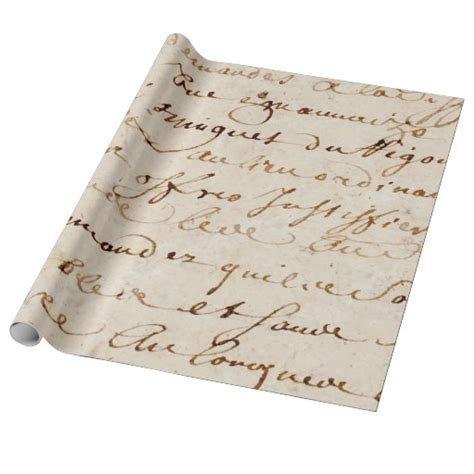 printable french wrapping paper 1700s vintage french script grunge parchment paper