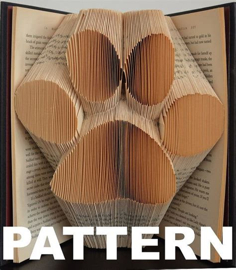 book folding templates book folding pattern large paw print by