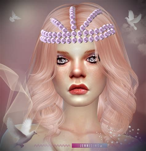 jenni sims accessory bow headband sims 4 downloads pearl tiara and teddybear headband at jenni sims 187 sims 4