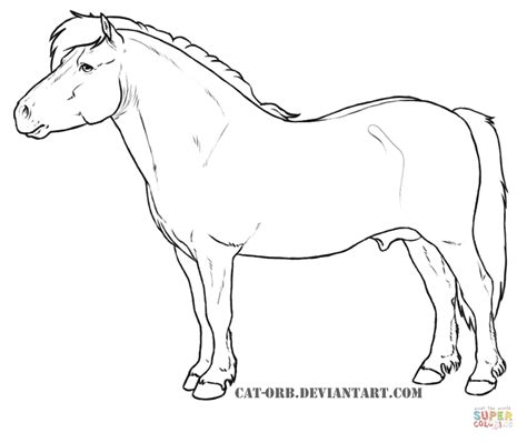 miniature horse coloring page shetland pony coloring page free printable coloring pages