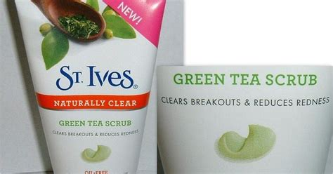 St Ives Green Tea Scrub review new st ives naturally clear green tea scrub