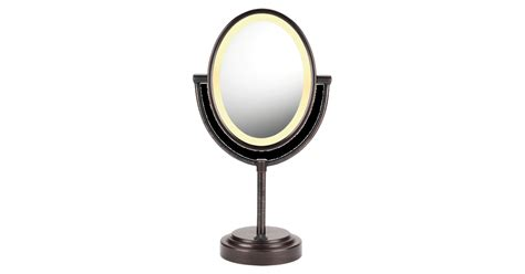 conair oval sided lighted mirror conair oval bronze sided lighted mirror