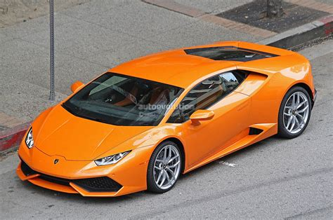 Orange Lamborghini Spyshots Orange Lamborghini Huracan Racing In The