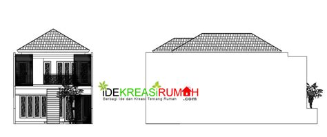 gambar kerja denah dan tak rumah kotak 2 lantai minimalis ide kreasi rumah