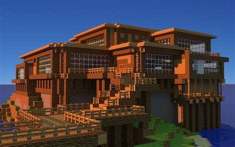 Houses On Minecraft by Minecraft House Wallpaper