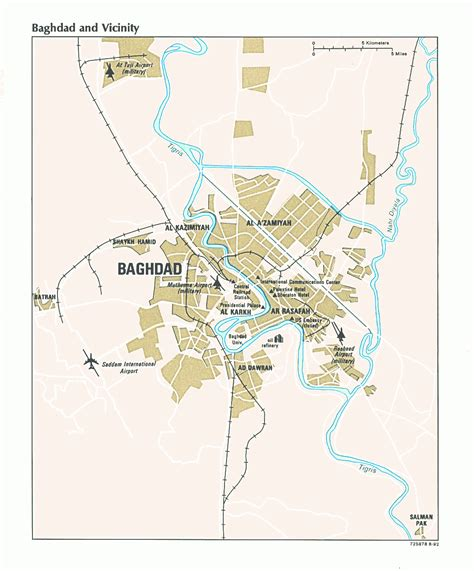 map of baghdad history of baghdad map