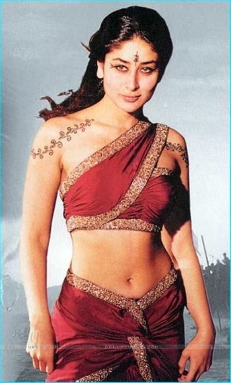 Kareena In High Neck Blouse by Kareena Kapoor In Srk Ashoka Saree Blouse Designs