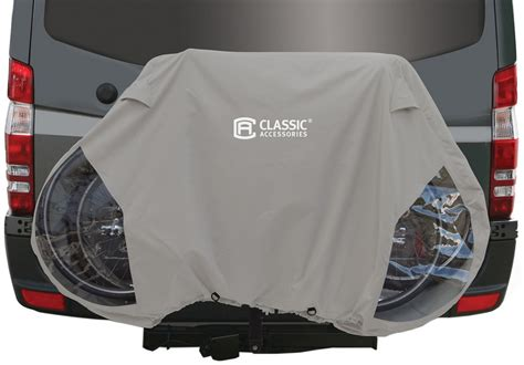 Bike Cover For Hitch Rack classic accessories deluxe 3 bike cover for rv hitch