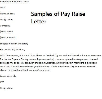 Asking Company To Pay For Mba Before Or After Acceptance by Pay Rise Request Letter Requesting A Pay Raise Requires