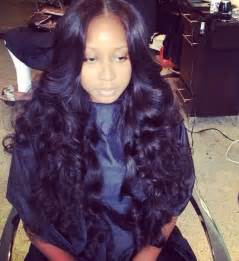 middle parting weave hairstyles flat middle part sew in with curls h a i r pinterest