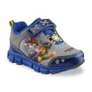 character toddler boy s paw patrol gray blue light up athletic shoe