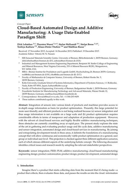 design for additive manufacturing pdf cloud based automated design and additive manufacturing a