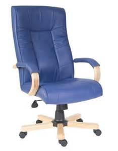 Office Chairs Worcester Uk Worcester Blue Leather Office Chair With High Back
