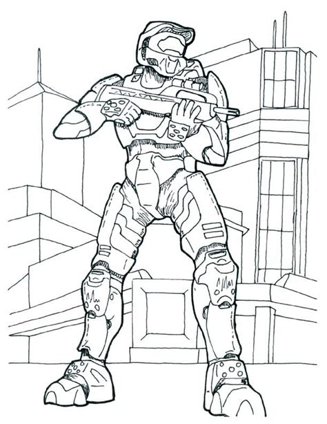 Halo 4 Coloring Pages by Halo Coloring Pages To Print Az Coloring Pages