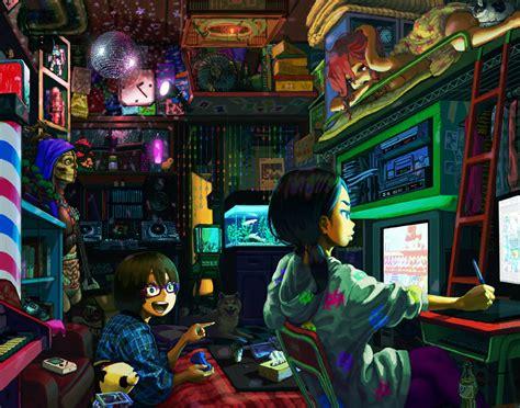 dorm wallpaper the dorm anime digital paintings illustrationscoolvibe