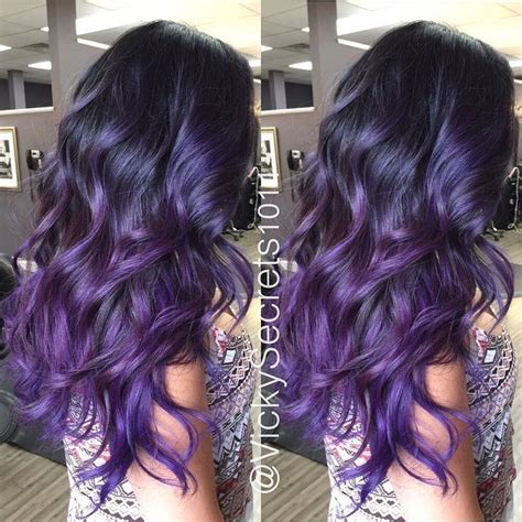 photos purple highlights for dark hair warm dark brown las 25 mejores ideas sobre purple balayage en pinterest y