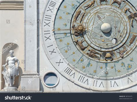 astronomical wall astronomical wall clock in padua italy stock photo