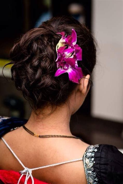 hairstyles for buns indian south indian bridal reception hairstyle hair bun with