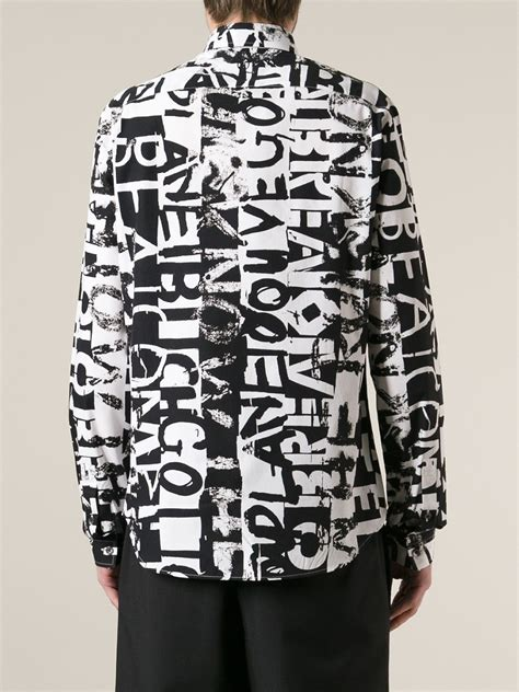 Black Graffiti Sweater 41983 lyst mcq graffiti print shirt in black for