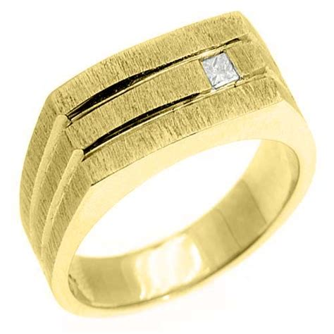 mens 1 10 carat princess square cut ring wedding