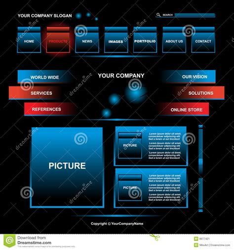 web page design stock image image 8977421