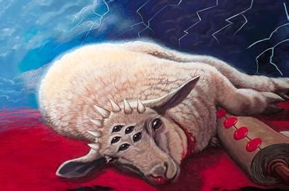 praise the seven eyed lamb! | until all have heard